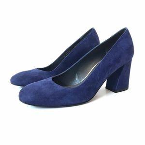 Stuart Weitzman Heels Pumps Blue Suede Leather 7